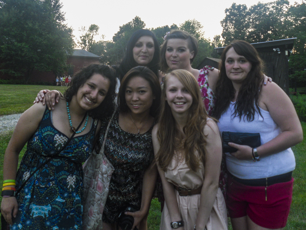 Camp counsellors before a DJ Dance at Camp Ballibay Performing Arts Camp in Pennsylvania, USA