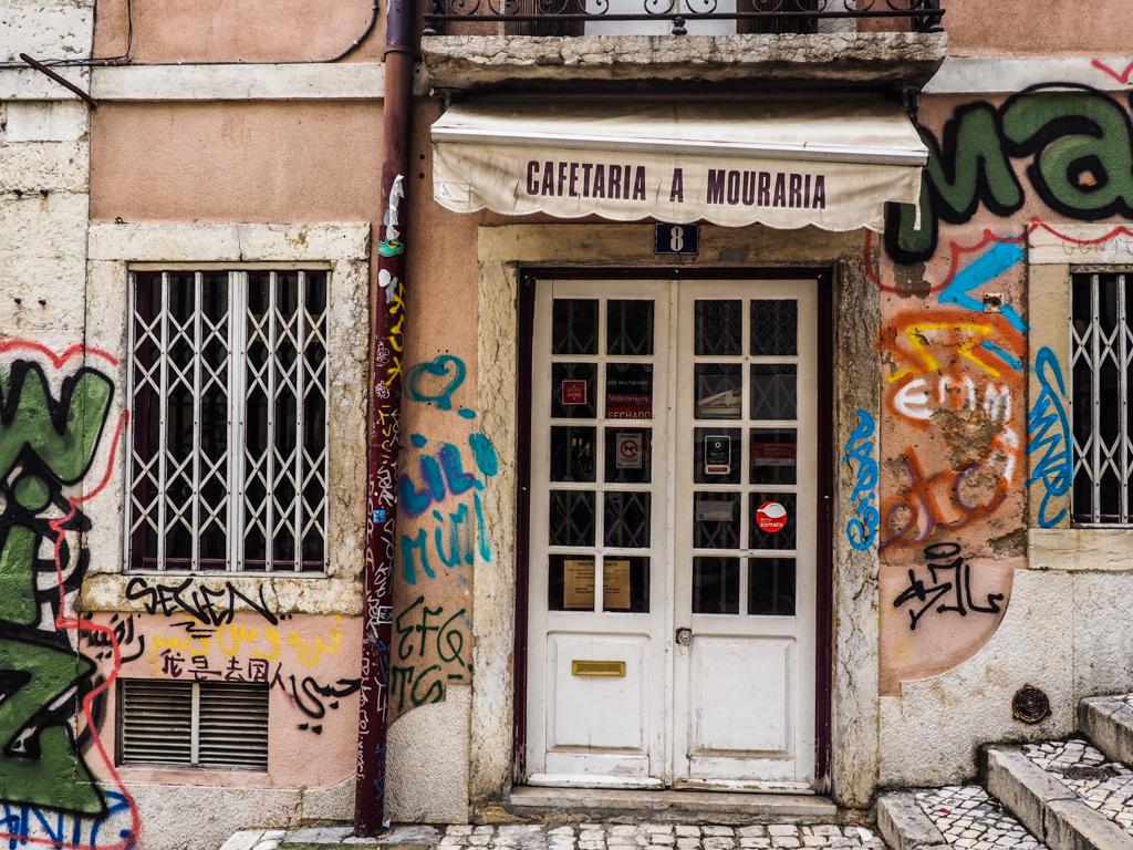 Cafeteria door in Lisbon, Portugal | 3 Days in Lisbon