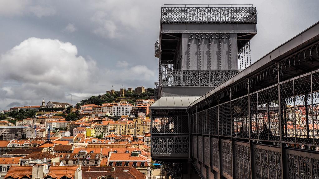 Elevador de Santa Justa in Lisbon, Portugal