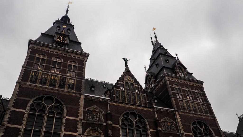 Rijksmuseum exterior in Amsterdam, Netherlands