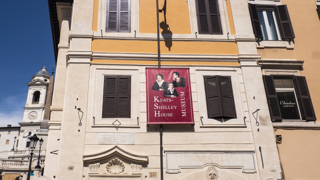 Outside Keat-Shelley House Museum in Rome, Italy | 3 Days in Rome Itinerary