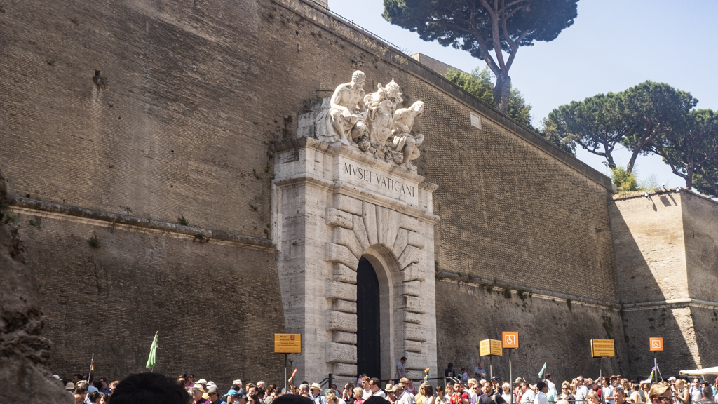 An entrance to the Vatican Museums in Vatican City near Rome, Italy | 3 Days in Rome Itinerary