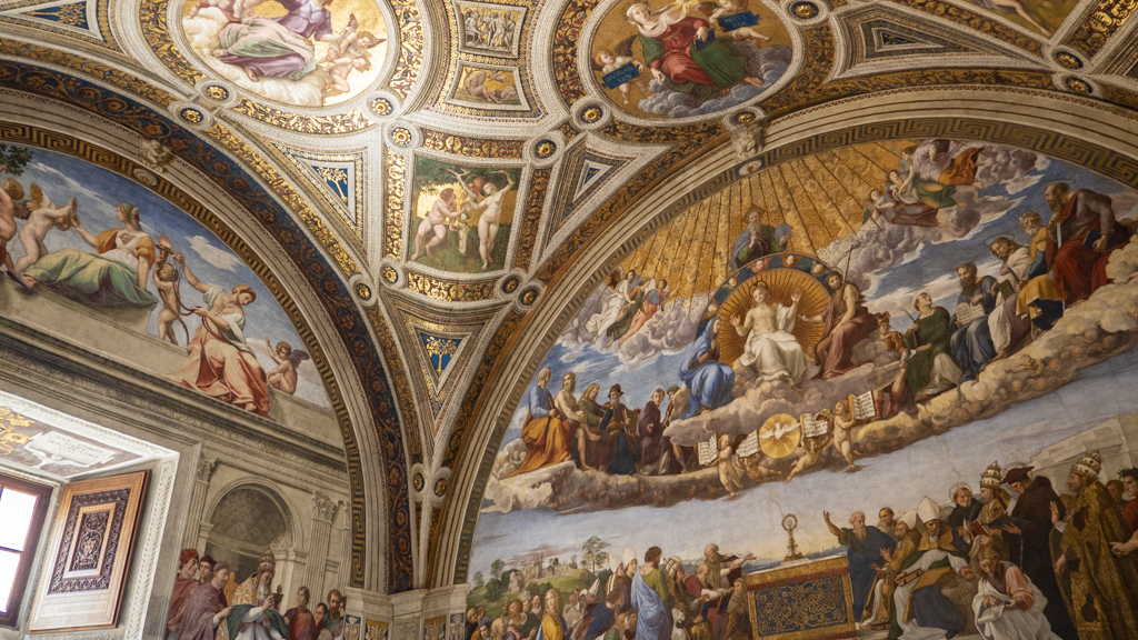 Ceiling in the Vatican Museums in Vatican City near Rome, Italy | 3 Days in Rome Itinerary