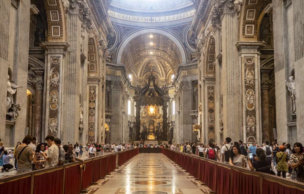 Inside St Peter's Basilica in Vatican City near Rome, Italy | 3 Days in Rome Itinerary