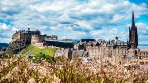 Edinburgh Castle and Festival Hub from the roof of the National Museum of Scotland in Edinburgh   3 Days in Edinburgh