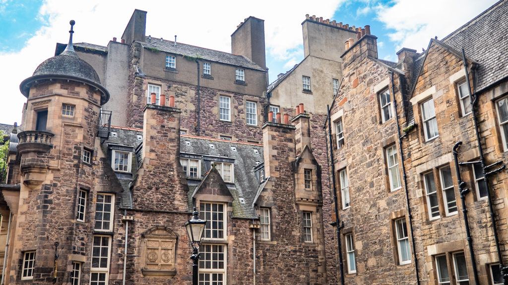 Buildings in Milne's Court, Edinburgh