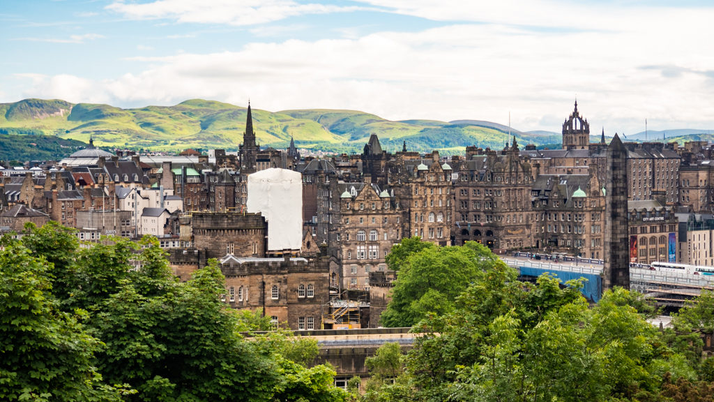 View from Calton Hill in Edinburgh | 3 Days in Edinburgh