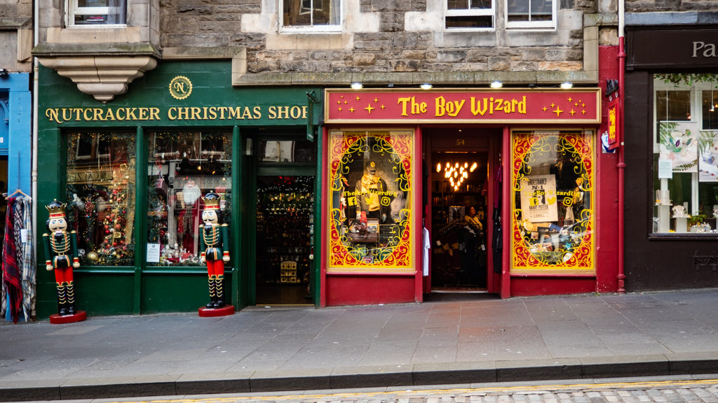 The Boy Wizard Museum Context shop in Edinburgh
