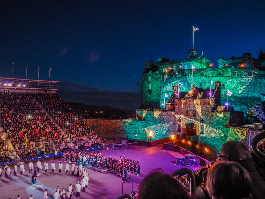 Edinburgh Castle during the Royal Edinburgh Military Tattoo in Edinburgh | 3 Days in Edinburgh