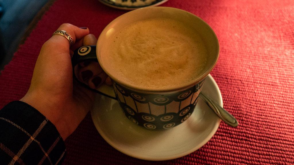 Coffee at Vinyl Café in Wrocław, Poland