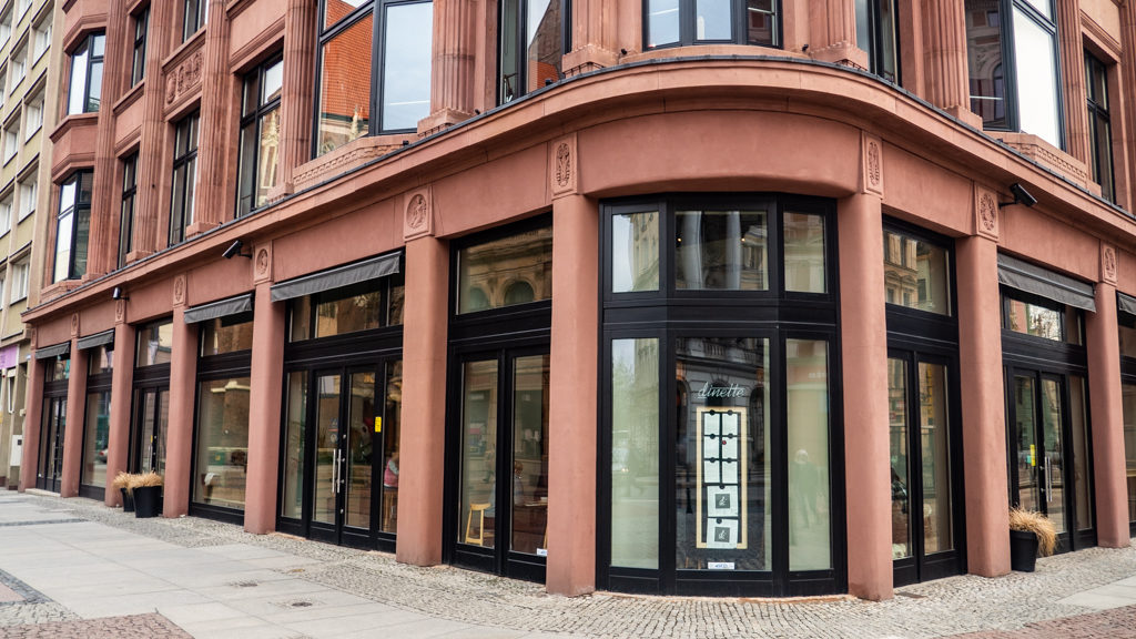 Exterior of Di Dinette in Wrocław, Poland, how to spend 48 Hours in Wrocław, Poland