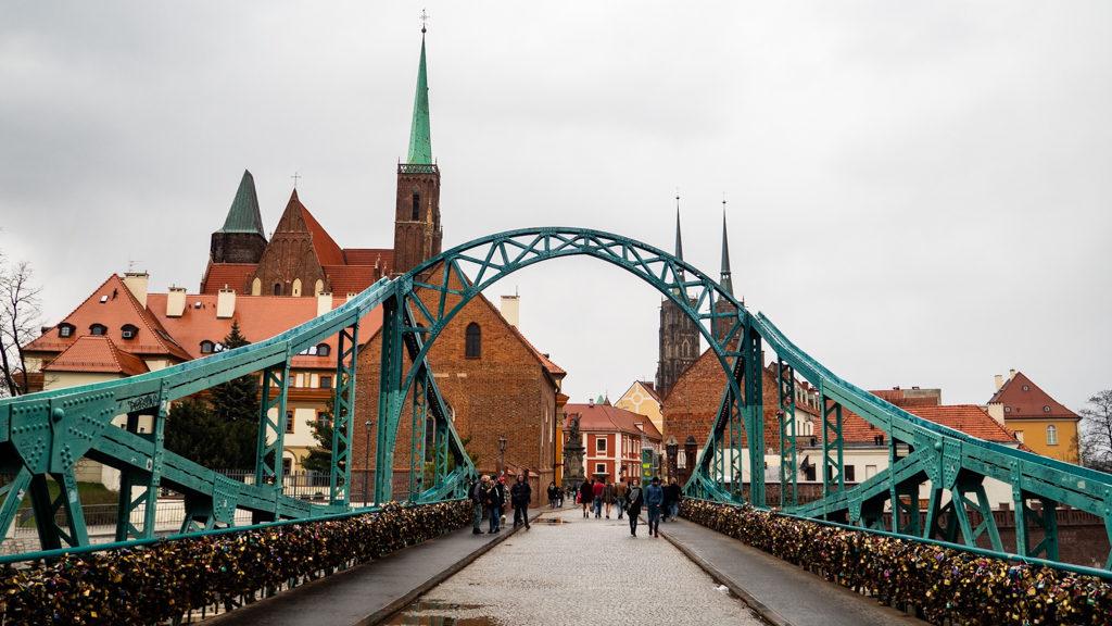 Most Tumski Bridge in Wrocław, Poland