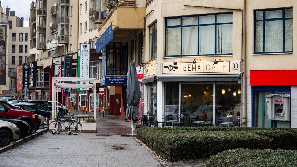 Exterior of Bema Café in Wrocław, Poland, how to spend 48 Hours in Wrocław, Poland