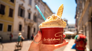 Gelato from La Gelateria in Trento, Italy