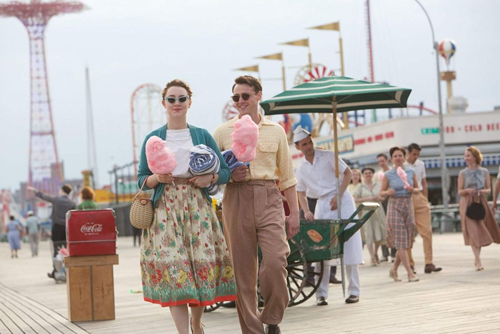 Eilis and Tony at Coney Island, one of the Brooklyn filming locations in Brooklyn, New York City