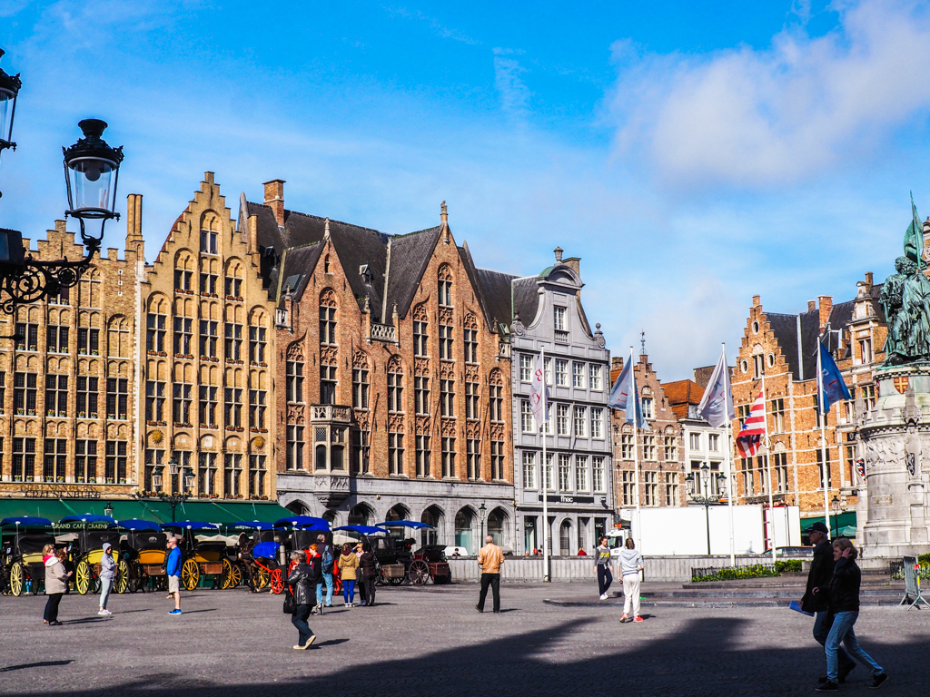 Central Markt in Bruges, Belgium