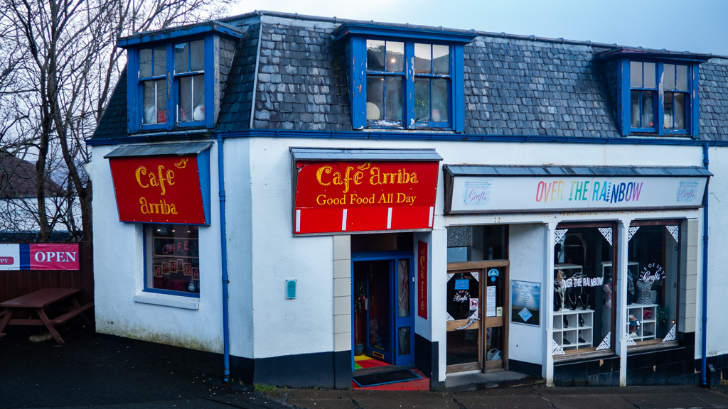 Cafe Arriba in Portree on the Isle of Skye, Scotland