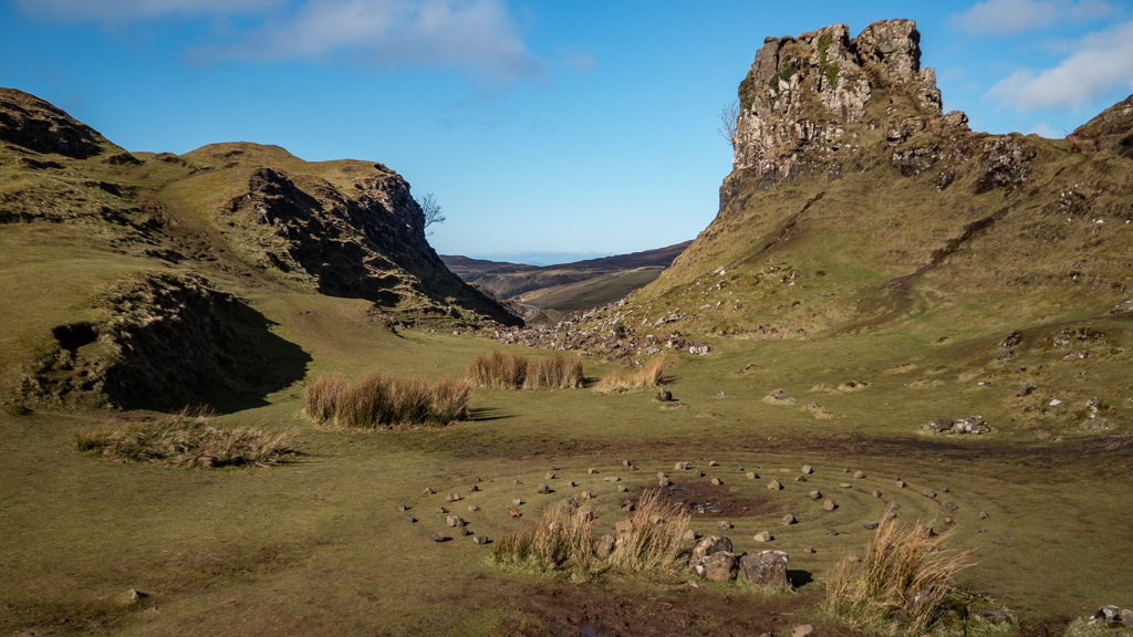 Castle Ewen and The Fairy Glen in Uig on the Isle of Skye, Scotland