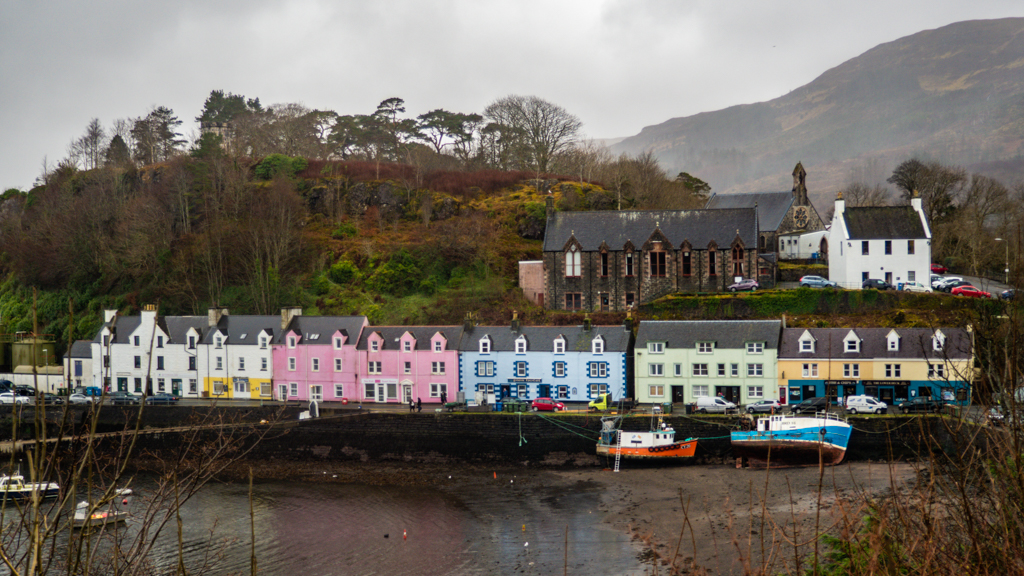 Portree Pier on the Isle of Skye, Scotland