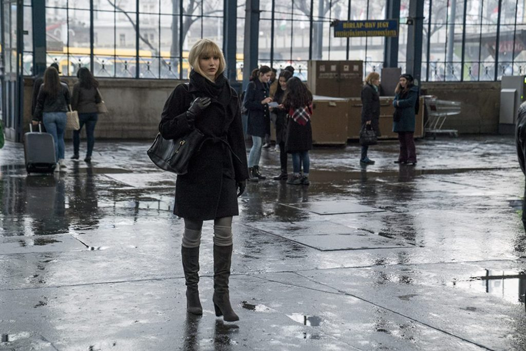 Red Sparrow film still, a film set in Budapest, Hungary