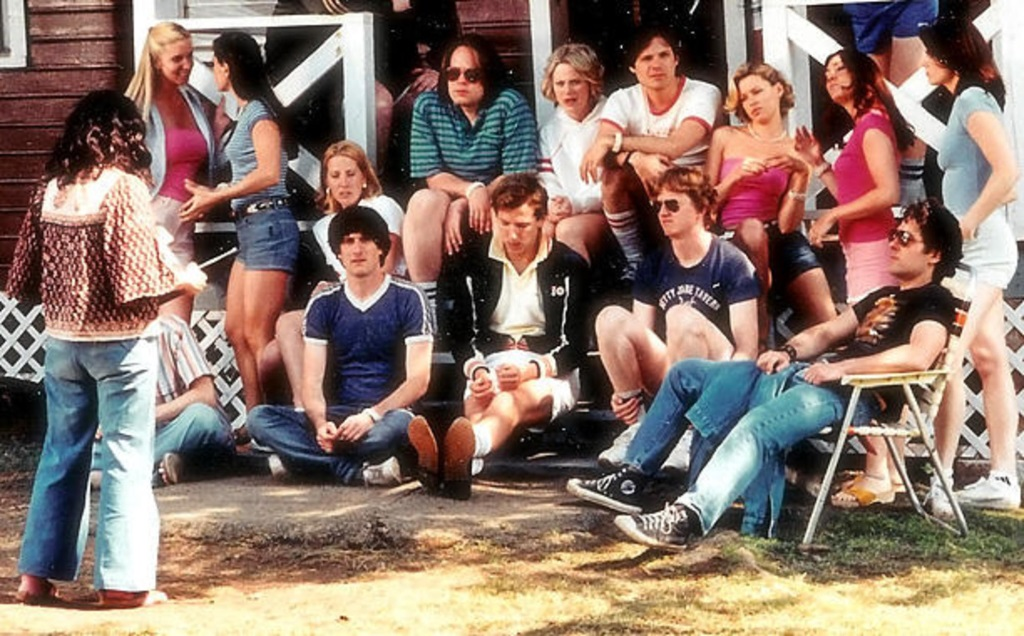 Wet Hot American Summer (2001) film still of the summer camp staff meeting