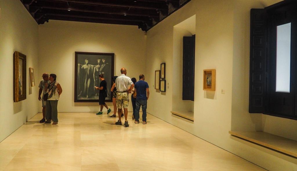 Picasso Museum Málaga interior in Málaga, Spain