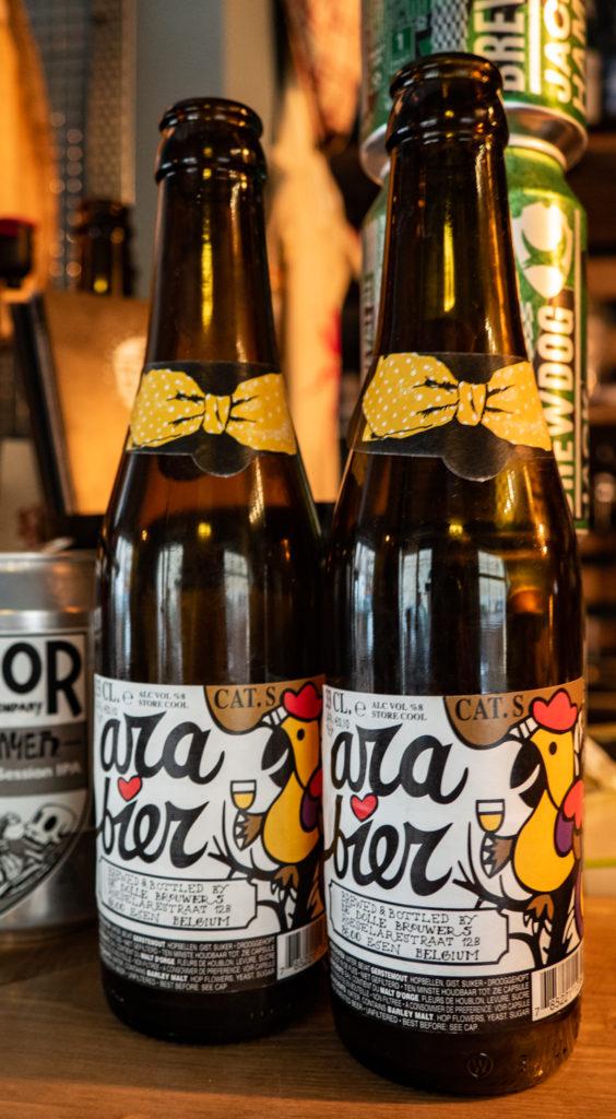 Craft beer bottles in Sicily, Italy