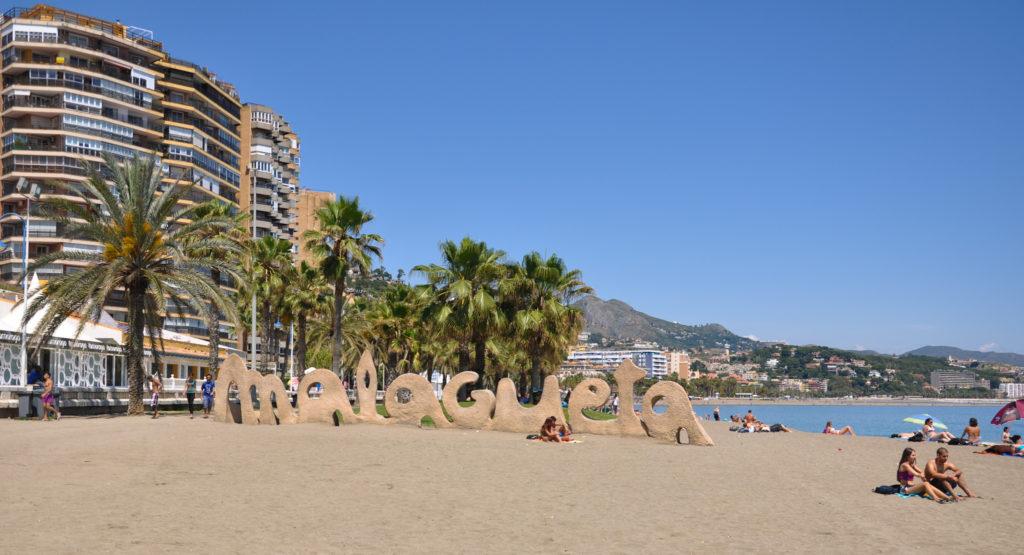 Playa de la Malagueta in Málaga, Spain