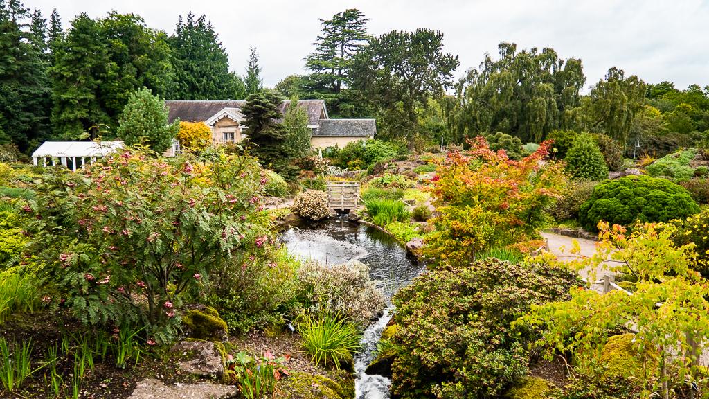 Rock Garden at the Royal Botanic Garden in Edinburgh, Scotland