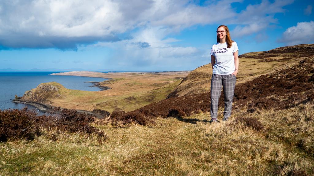 Almost Ginger blog owner in Uig, Isle of Skye in Scotland