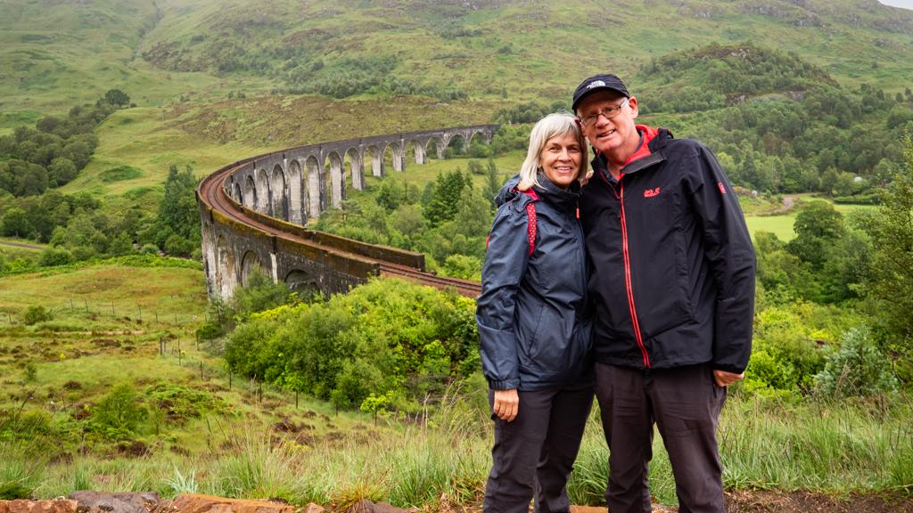 Mum and Dad at Glenfinnan Viaduct, Scotland