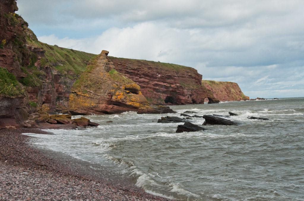 Auchmithie Beach in Scotland Under The Skin Location