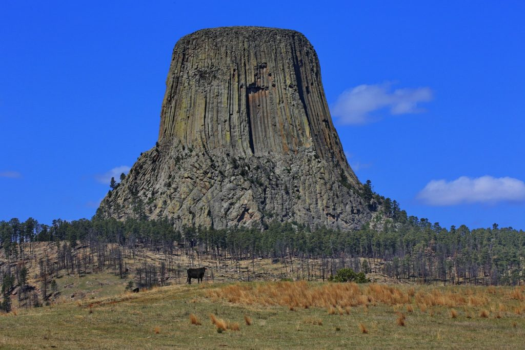 Famous Movie Location Devil's Tower in Wyoming, USA
