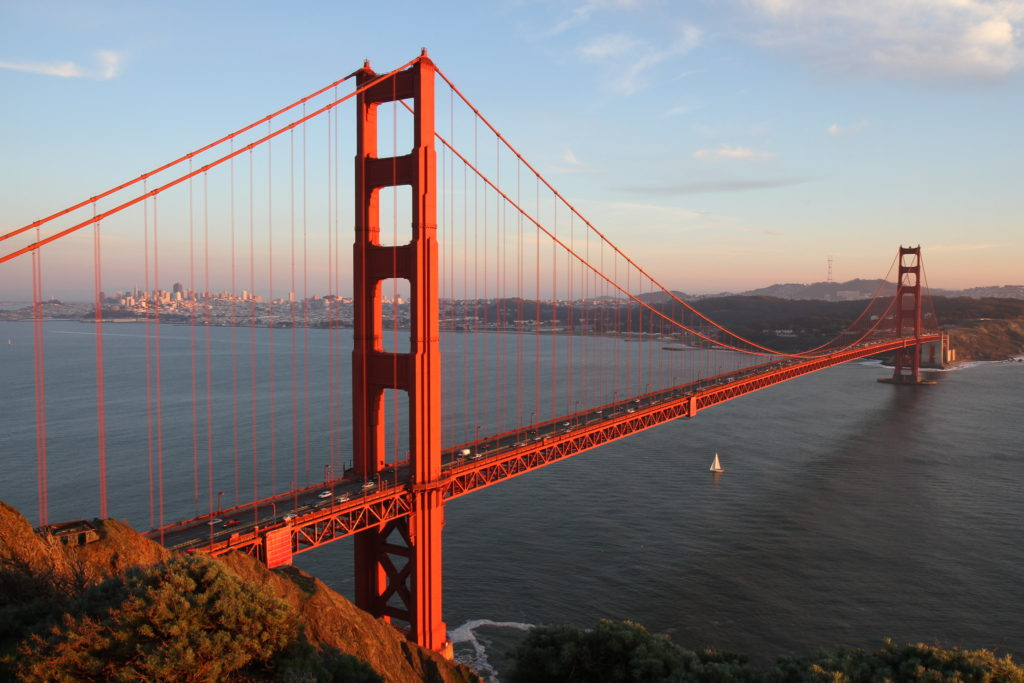 Golden Gate Bridge in San Francisco, California in the USA