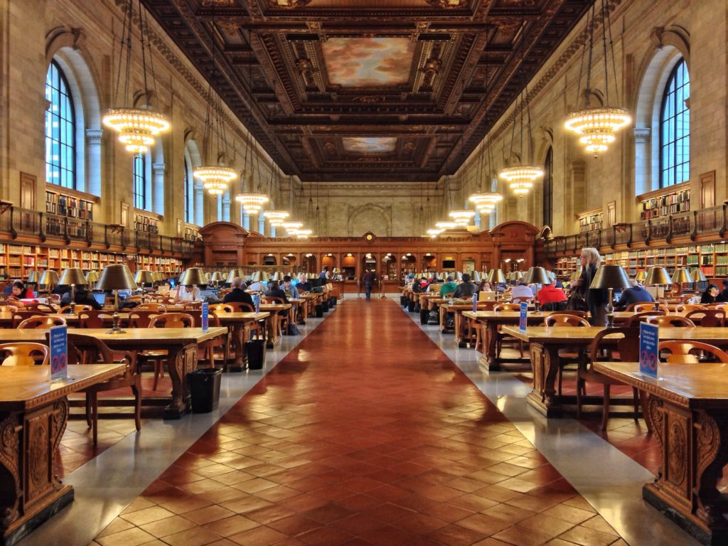 Famous Movie Location New York Public Library in NYC, USA