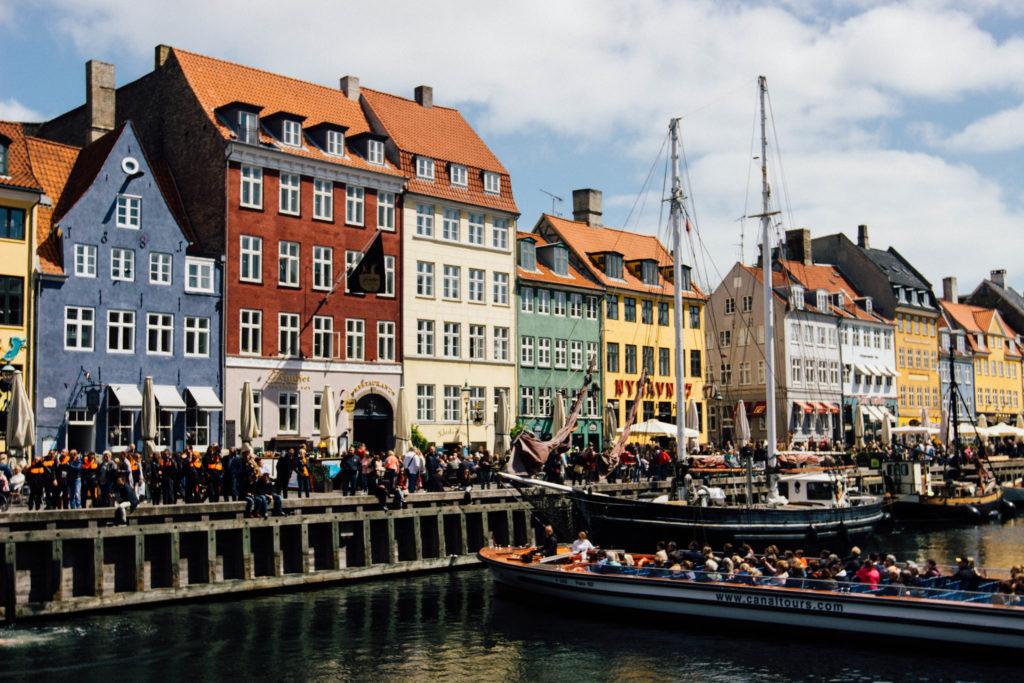 Famous Movie Location Nyhavn Harbour in Copenhagen, Denmark