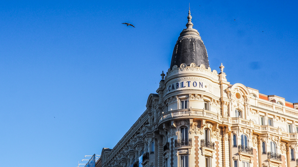 Famous Movie Location Hotel Carlton in Cannes, France