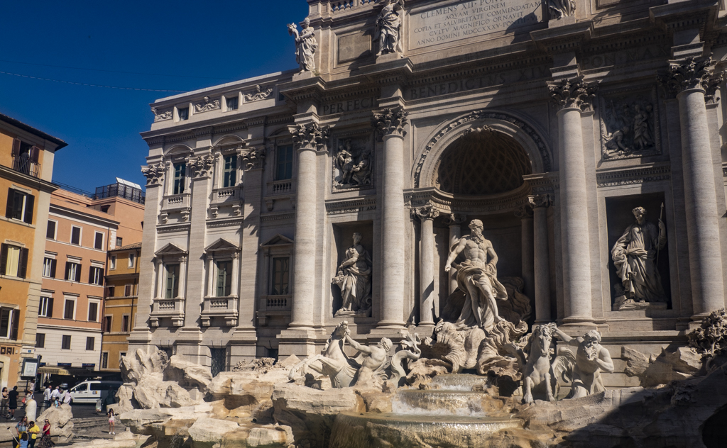 Famous Movie Location Trevi Fountain in Rome, Italy