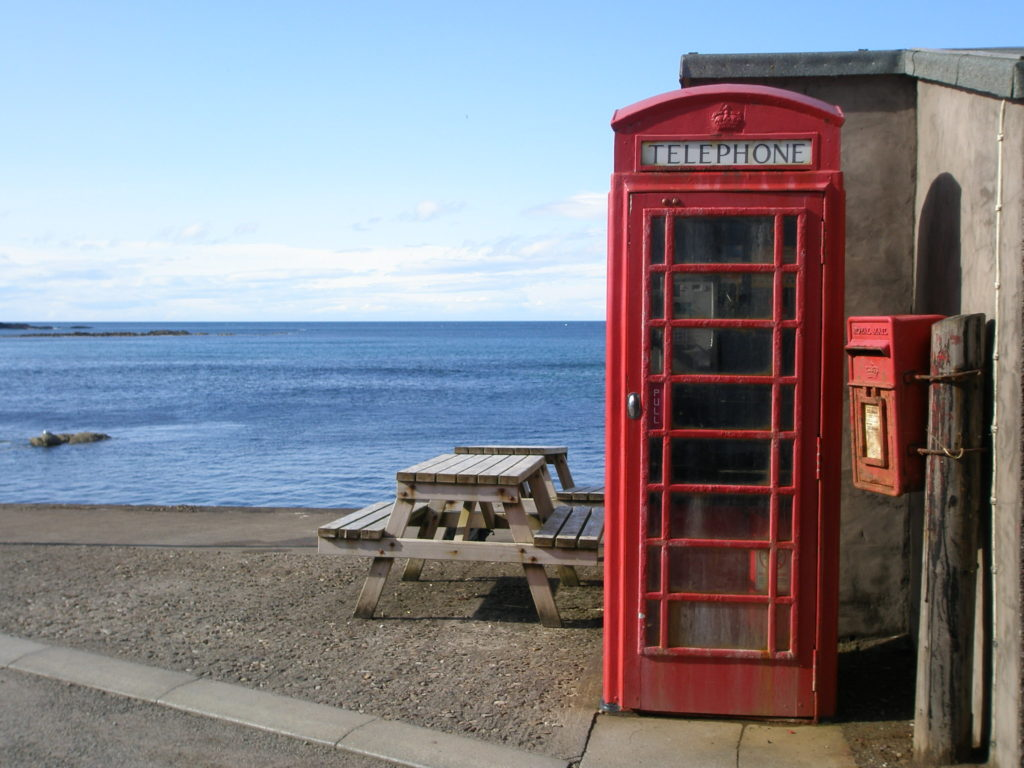 Where was Local Hero Filmed? Red Phone Box in Pennan, Aberdeenshire in Scotland Local Hero Film Location
