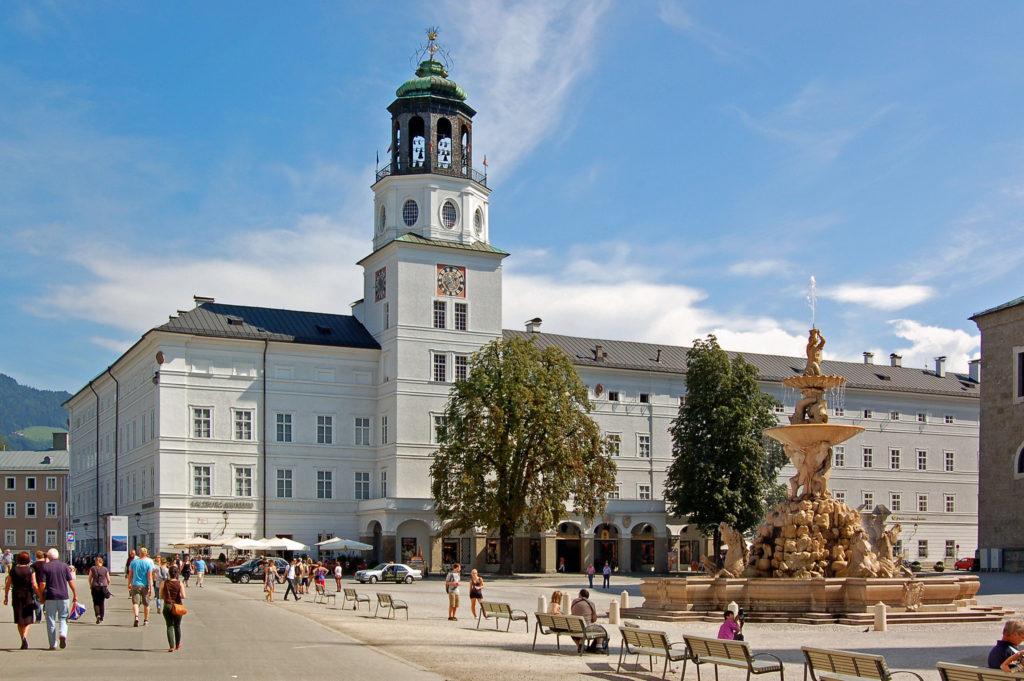 Famous Movie Location Residenzplatz in Salzberg, Austria