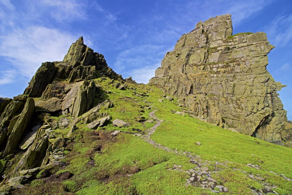 Famous Movie Location Skellig Michael in County Kerry, Ireland