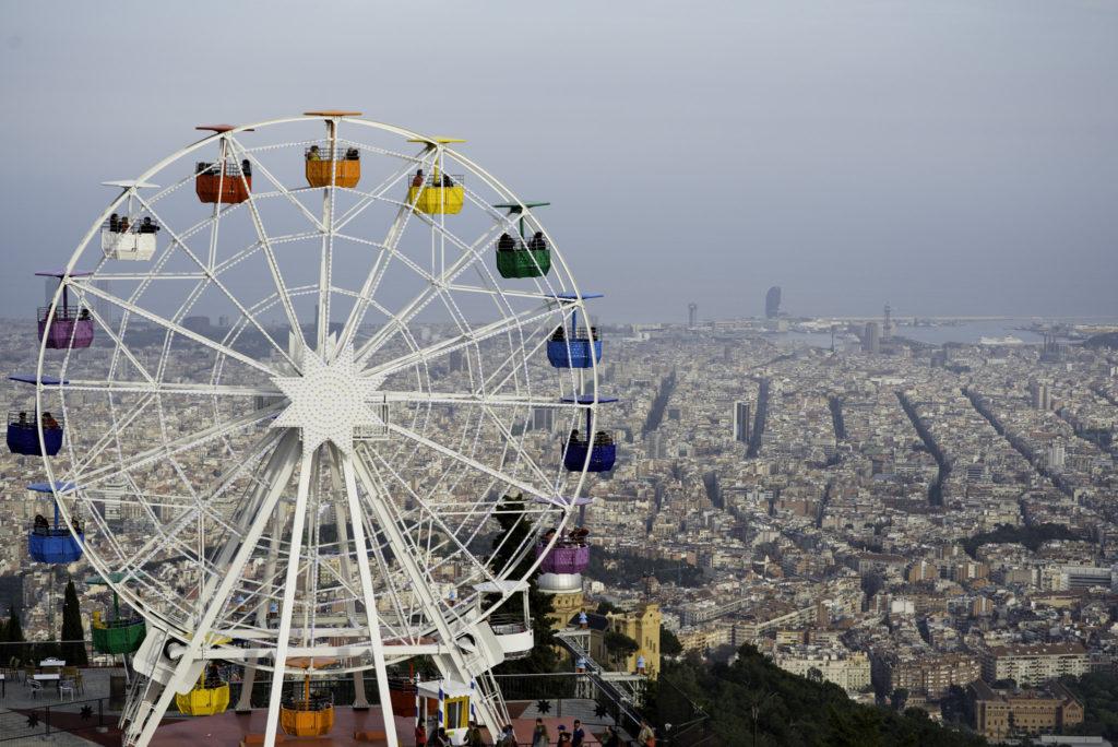 Tibidabo Amusement Park in Barcelona, Spain
