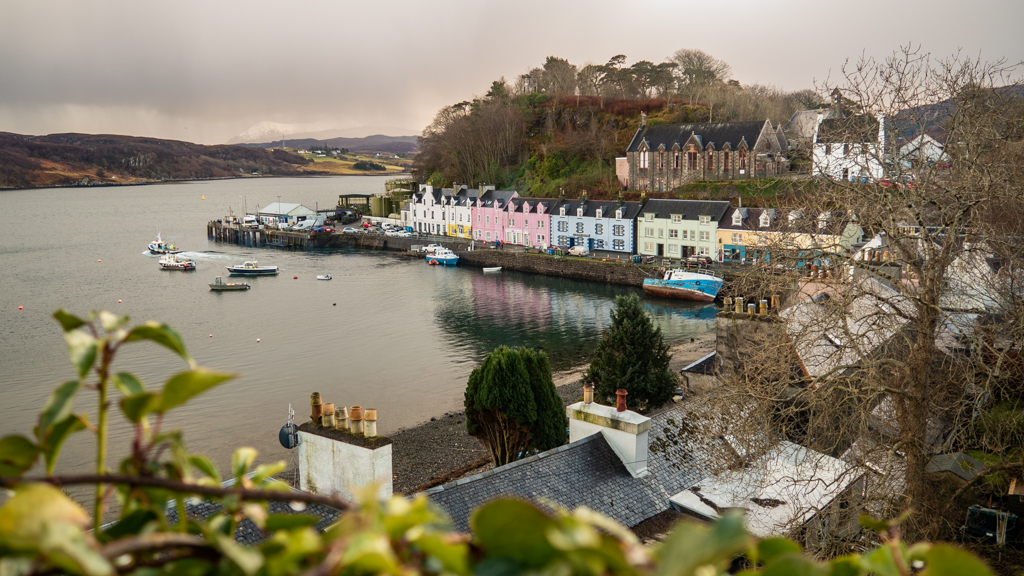 Portree Harbour on the Isle of Skye, Scotland Made of Honor Filming Location