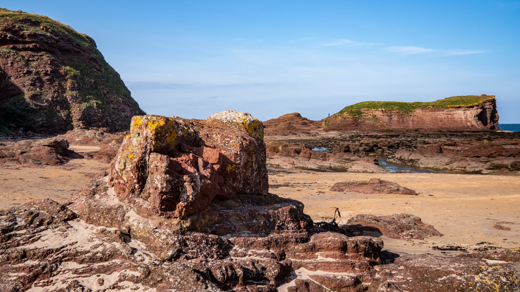 Seacliff Beach in North Berwick, East Lothian in Scotland Mary Queen of Scots Filming Location