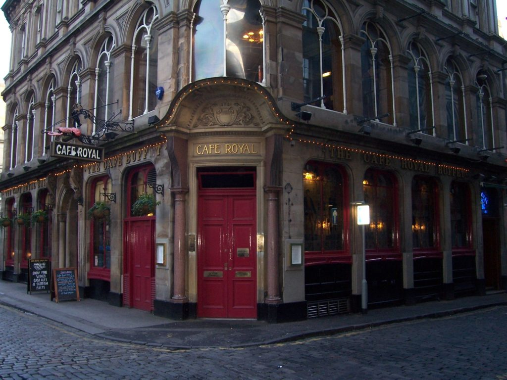 Cafe Royal in Edinburgh, Scotland