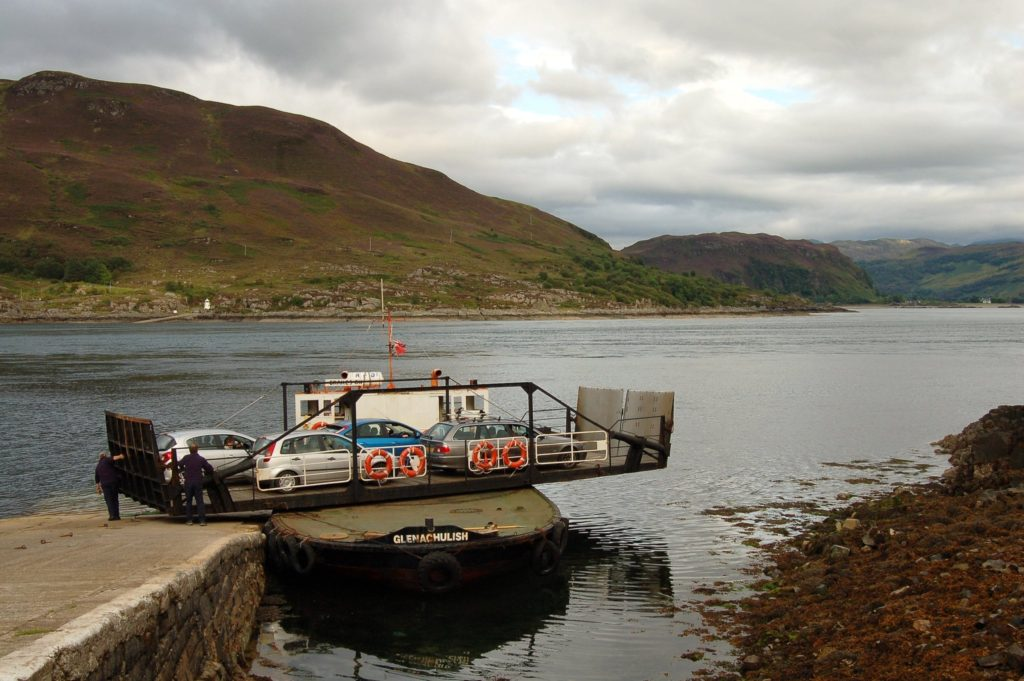 Glenelg and Kylerhea Ferry in Scotland Made of Honor Filming Location