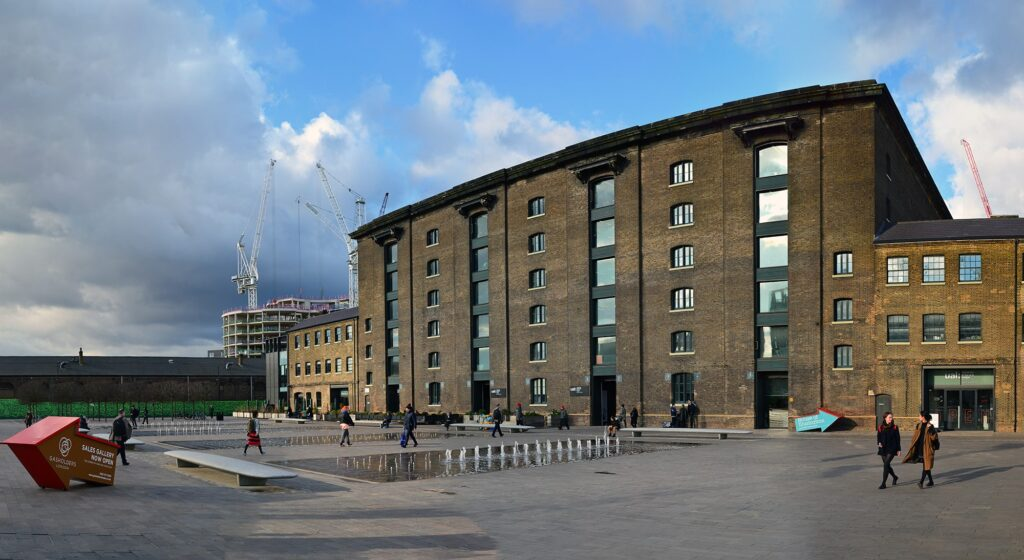 Granary Square, King's Cross in London, England