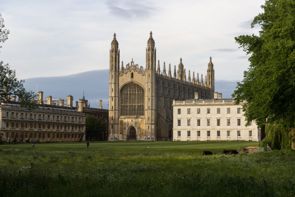 King's College Chapel, University of Cambridge in England