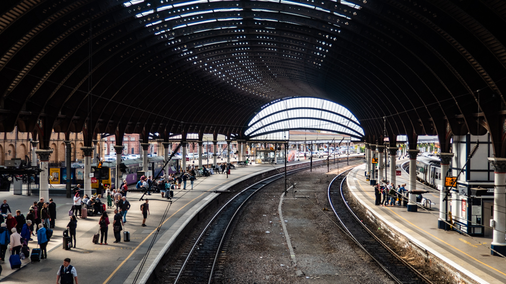 York Train Station in Yorkshire, England