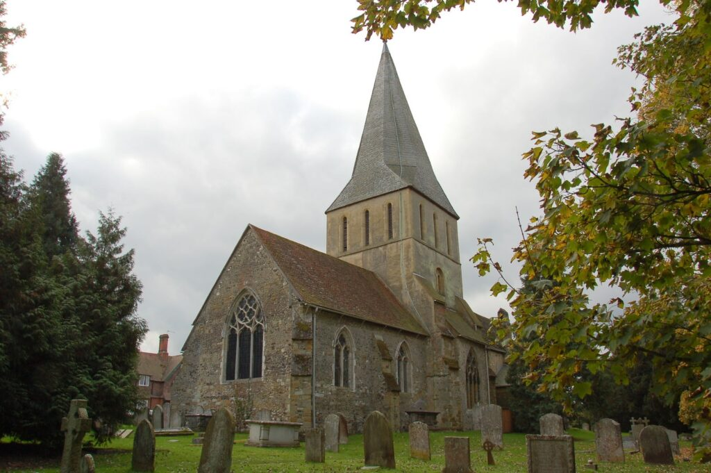 St James's Church in Shere, Surrey in England